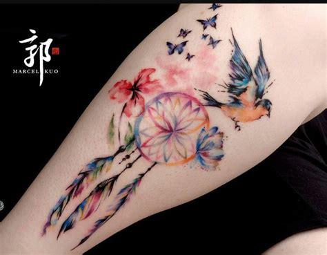 tattoo dreamcatcher butterfly best 25 dreamcatcher tattoos ideas on pinterest