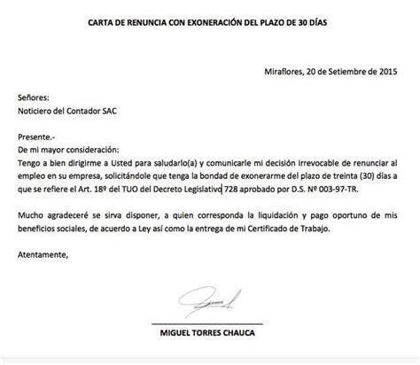 renuncia empleada domestica en mexico modelo carta de renuncia carta de renuncia pinterest
