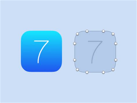 layout app border apple ios 7 base icon correct border radius sketch