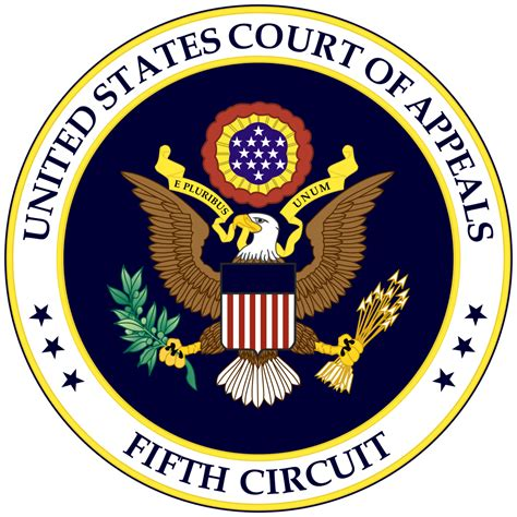 Court Of Appeals Search File Seal Of The United States Court Of Appeals For The Fifth Circuit Svg Wikimedia