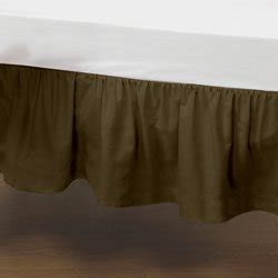 Brown Crib Dust Ruffle by Portable Crib Solid Dust Ruffles Color Brown