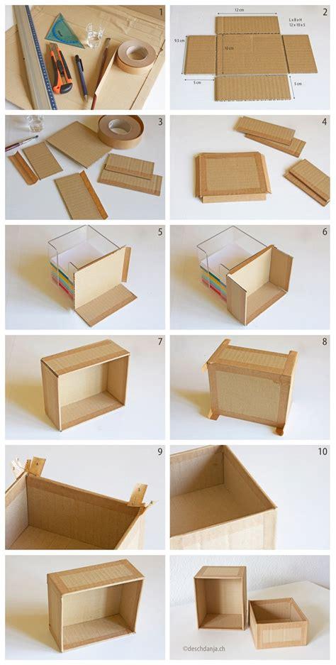 Decorative Paper Storage Boxes With Lids Karton Recycling Schachtel Selber Machen Handmade Kultur
