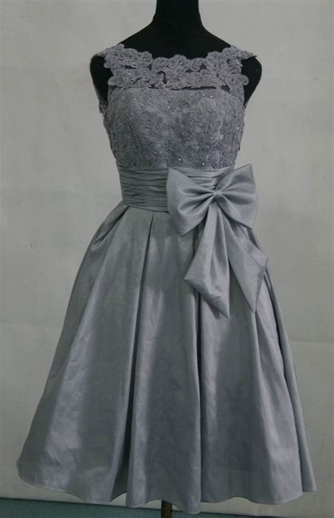 grey lace wedding dress taffeta silver grey bridesmaid dress prom dress with by