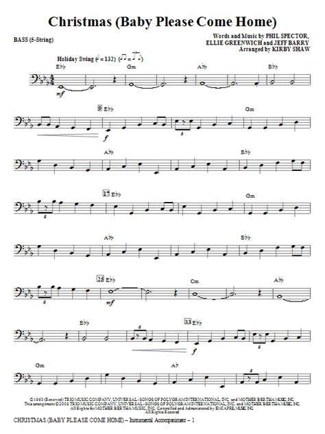 baby come home bass sheet direct