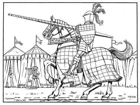 coloring pages medieval knights medieval coloring pages to download and print for free