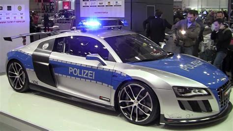 fastest police car fast police car audi r8 gt r by abt youtube