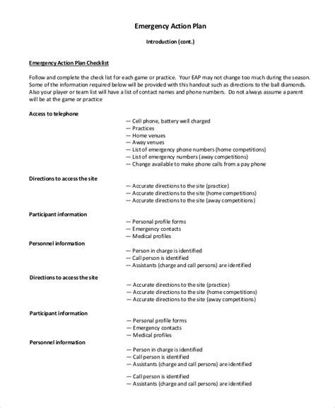 padi emergency plan template sle emergency plan 8 exles in pdf word