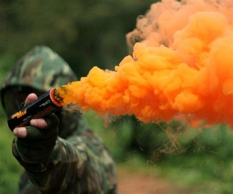colored smoke grenades chromatic emergency markers smoke grenades