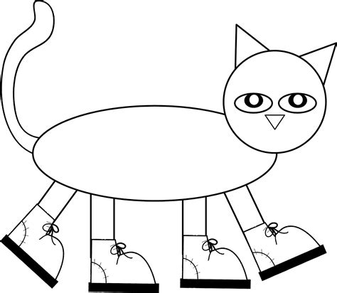 coloring page pete the cat free pete the cat coloring page az coloring pages