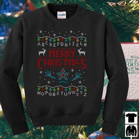 upside  stranger  merry christmas sweater shirt  hoodie