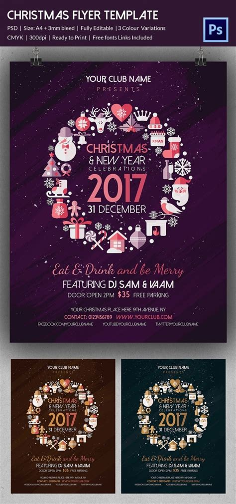 60 Christmas Flyer Templates Free Psd Ai Illustrator Doc Format Download Free Premium Flyer Template Photoshop