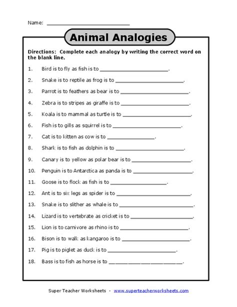 Analogy Practice Worksheets by Number Names Worksheets 187 Analogies Worksheet Free