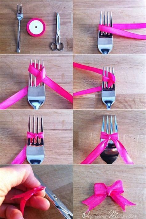 How To Make A Bow Using A Fork Pictures, Photos, and