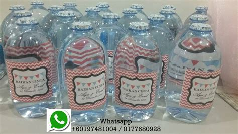 Label Botol Air Mineral Custom the moons gallery and doorgift 1st in malaysia specialize in doorgift items set air seamaster