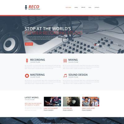 templates for bootstrap studio recording studio website templates