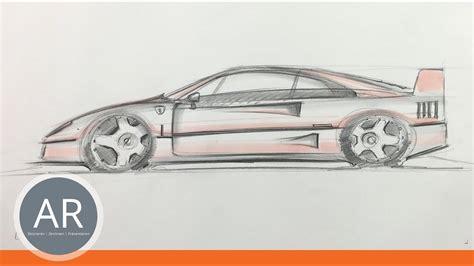 Ford Mustang Auto Zeichen by Autos Zeichnen Lernen In Der Seitenansicht