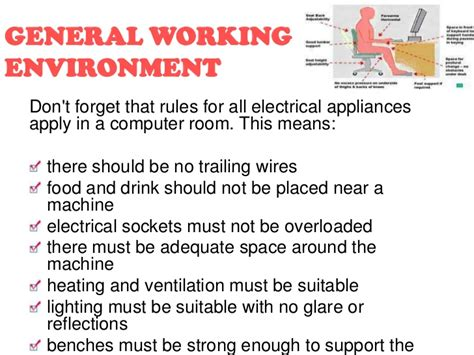 health and safety in the computer room safety issues with ict