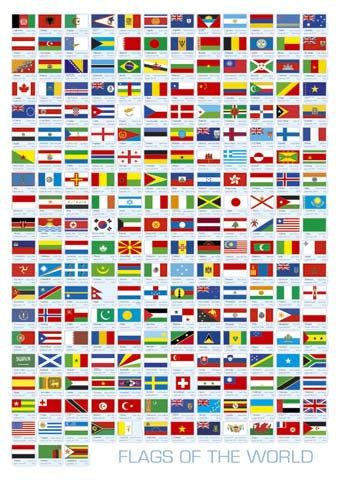 flags of the world how many askartelunurkka lippupeli partioheraldikot