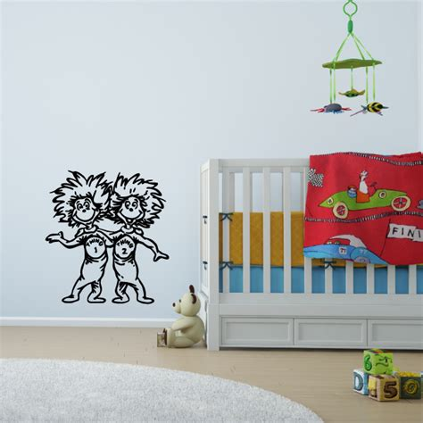 Cat In The Hat Bedroom Decor by Thing 1 And Thing 2 Wall Decal The Cat In The Hat Dr