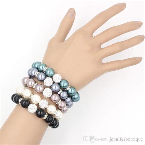 2017 Pearl Jewelry, 12mm Shamballa Disco Ball Stretch