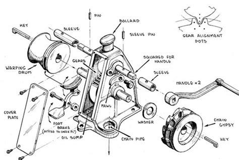 manual boat anchor winch manual windlass from ellsen manufacturer for sale