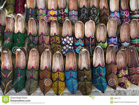 Sepatu Mojari Made In India stock image traditional mojari shoes image 34887131