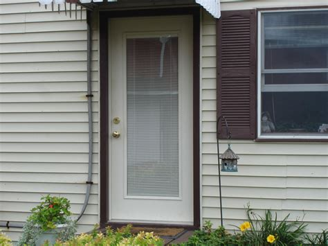 Exterior Door With Built In Blinds Steel Entry Doors With Blinds Between The Glass Panes