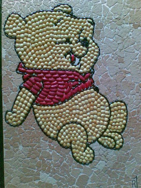cara membuat kolase dari biji bijian winnie the pooh dari biji bijian ternyata gitu