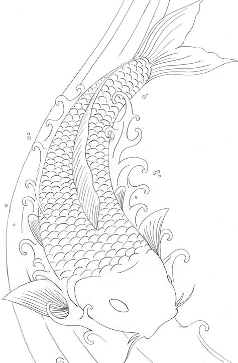 printable coloring pages koi fish free koi fish coloring sheet
