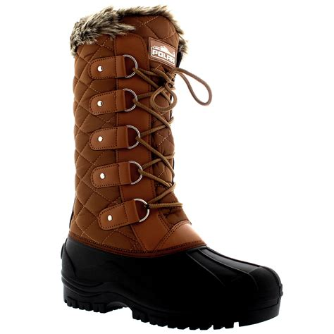 womens waterproof tactical mountain walking snow fur lined