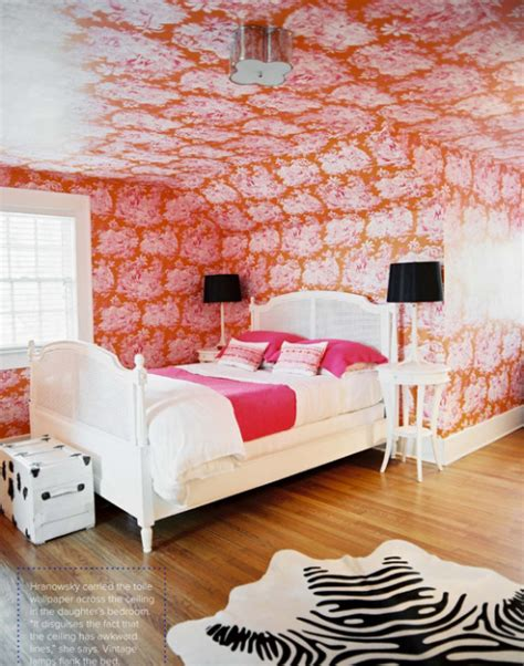 pink and orange bedroom interior designer 1940s home by angie hranowsky