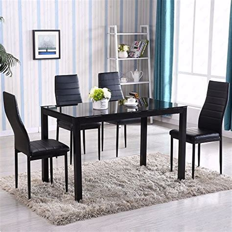 kitchen glass dining table sets gracelove 5 glass metal kitchen dining table set 4