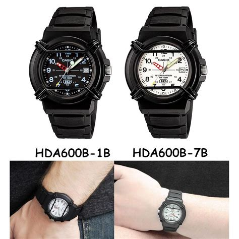 Jam Casio Original Hda 600b jam tangan casio analog hda 600 b series date display