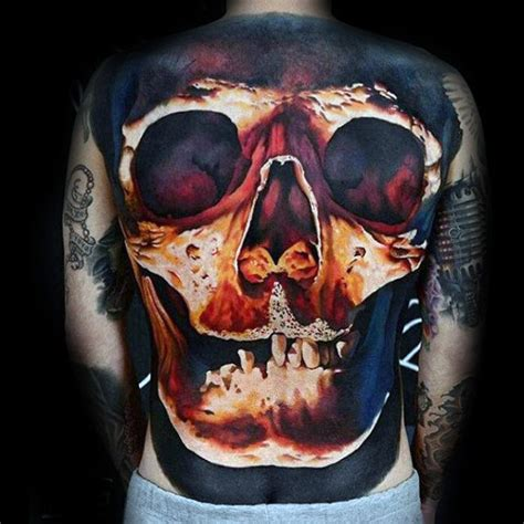 awesome terrific realistic skull tattoo awesome tattoos parryz