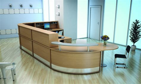 Receptionist Furniture by Straight Reception Desk With Wooden Shelf Avalon 800mm