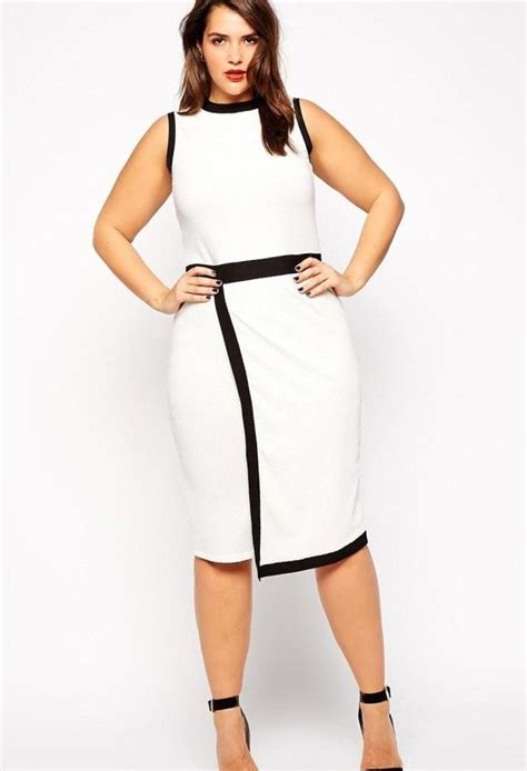 White Superbigsize by Dresses For Plus Size Pluslook Eu Collection