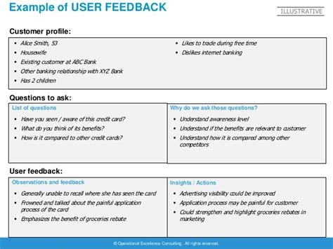 feedback tracker template design thinking project template by operational excellence