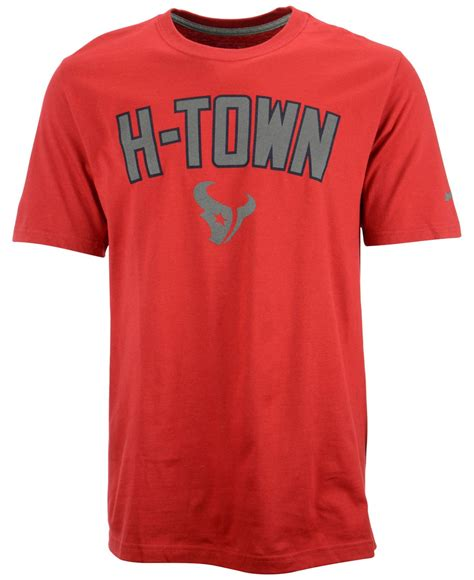 nike s sleeve houston texans reflective t shirt