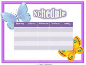 weekly activity calendar template free weekly calendars for