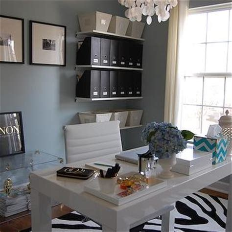blue grey paint contemporary den library office benjamin smoke