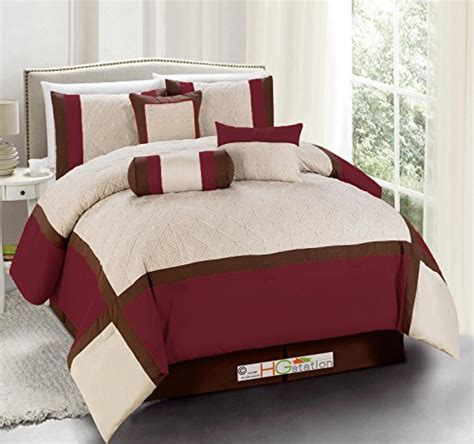 comforter and curtain sets queen 11 pc quilted diamond square patchwork modern comforter
