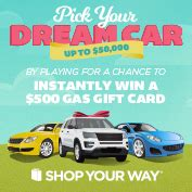 Shop Your Way Instant Win Codes - shop your way 500 gas card instant win game