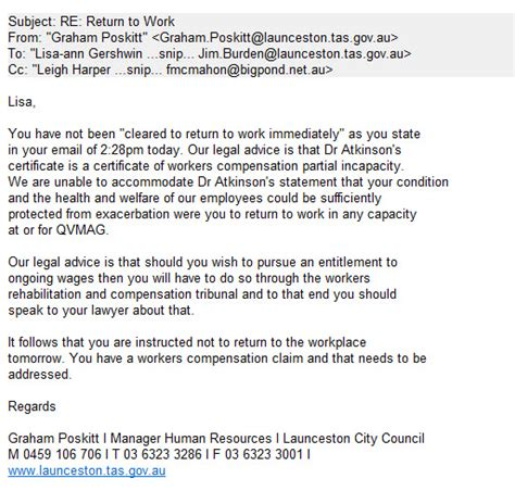 Resignation Letter Due To Workplace Bullying Launceston City Downloads