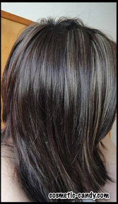 exles of silver and grey lowlights medium brown hair with grey highlights google search