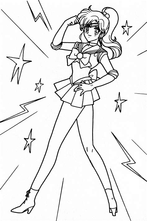 Sailor Jupiter Coloring Pages free jupiter coloring pages
