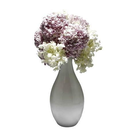 White Flower Arrangements In Vases by Pink White Hydrangea Artificial Flower Arrangement