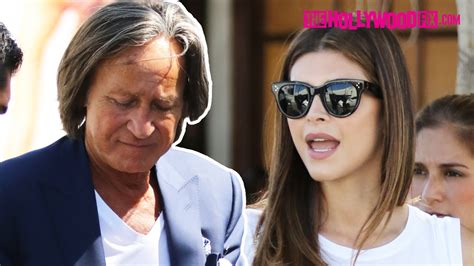 mohammed and sheva mohamed hadid shiva safai leave lunch together at il
