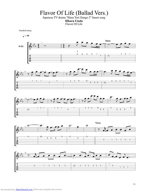 Flavor Of Life Ballad Vers guitar pro tab by Utada Hikaru