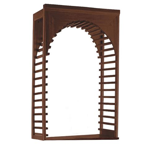 Wine Rack Kit by Wine Enthusiast N Finity Wine Rack Kit Mahogany Arch Display 618 51 14 The Home Depot