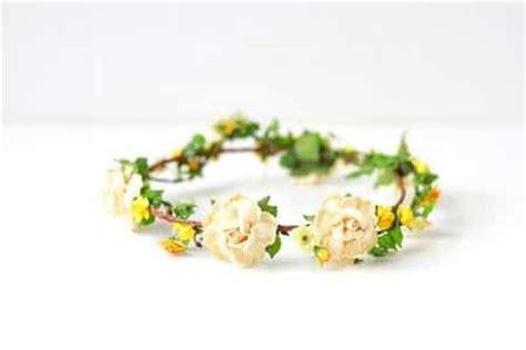 cara membuat gelang flower crown cara membuat flower crown sendiri dari bahan sederhana